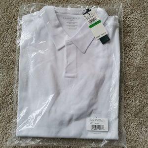 Brand New Perry Ellis Short Sleeve  White
